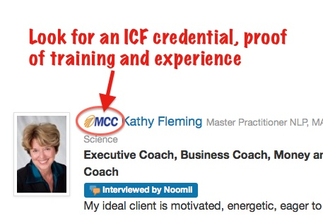 ICF credentials can be found on Noomii profiles in front of the coach name